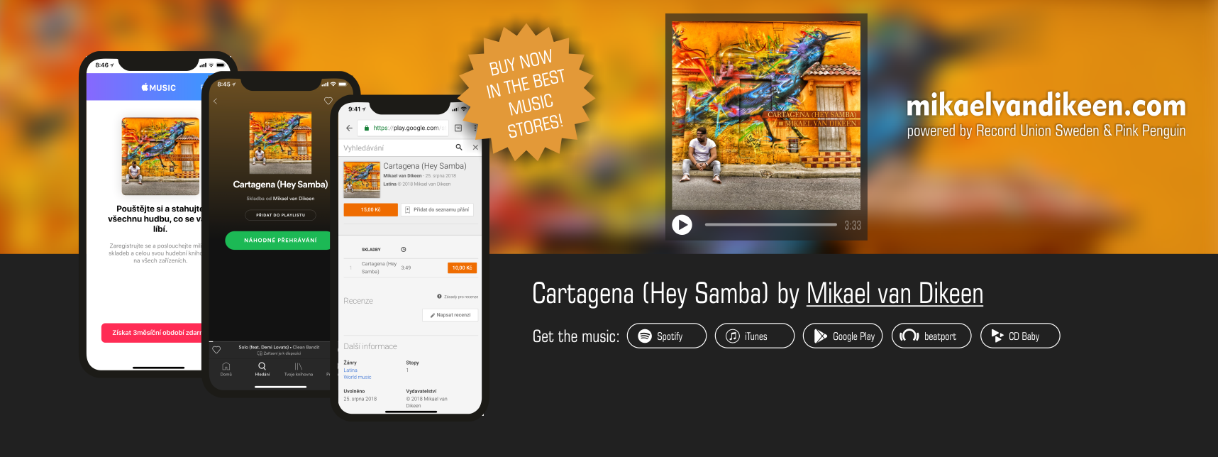 Mikael van Dikeen - Cartagena - Hey Samba - buy now